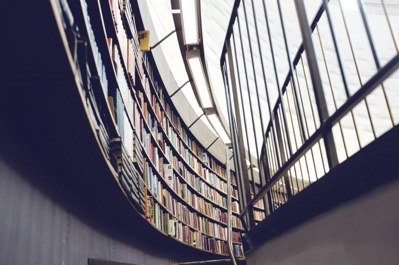 Das Bild zeigt eine Bibliothek